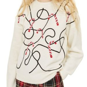 -NWOT- Topshop Candy Cane Sweater (10)